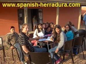 teaching English in a social centre in Montevideo